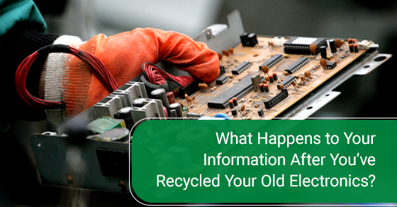 what happens to the information when it gets recycled?